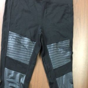 Express Leggings with Faux Leather Detail Size M